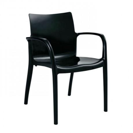 Siyah Kollu Kış Bahçesi Sandalyesi - pls46