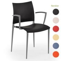 İç Mekan Alüminyum İskeletli Plastik Enjeksiyon Sandalye