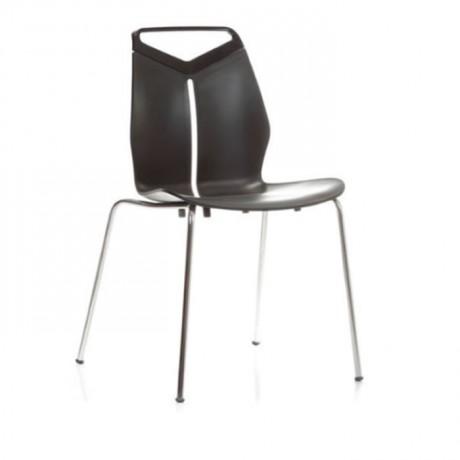 Siyah Plastik Cafe Kış Bahçesi Sandalyesi - pls41
