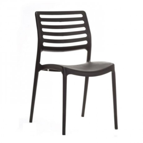 Siyah yatay Çıtalı Plastik Sandalye - pls44