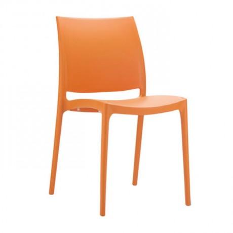 Orange Plastic Restaurant Chair - pls32