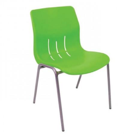 Yeşil Plastik Cafe Sandalyesi - pls168