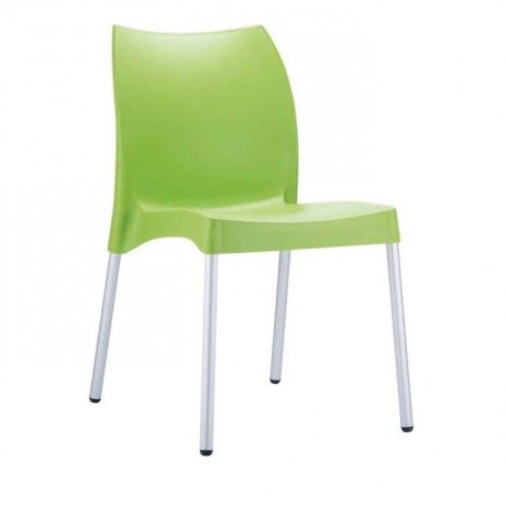 Green Plastic Cafe Chair - pls26