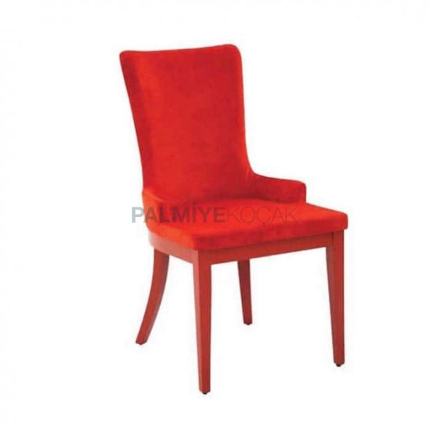 Poliüretan Ahşap Ayaklı Salon Sandalyesi