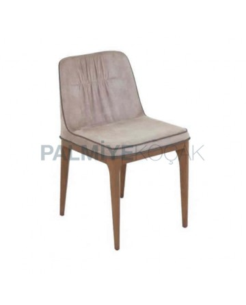 Polyurethane Beige Cafe Chair
