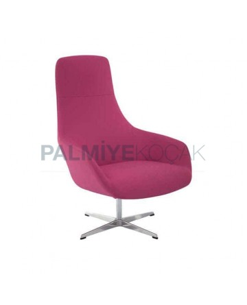 Fusia Fabric Upholstery Metal Leg Polyurethane Bergere