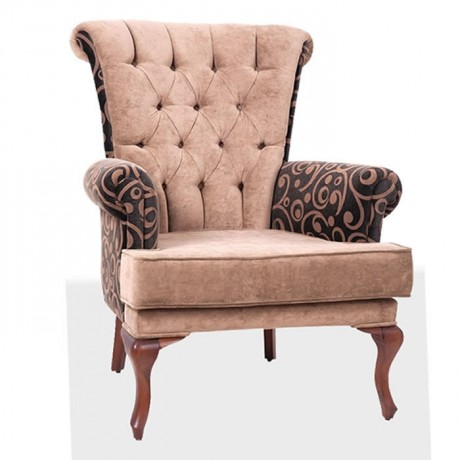Polyurethane Bergere with Lukens Leg Quilted - berjer-7795