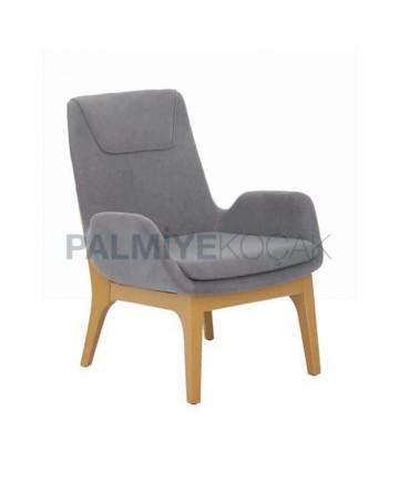 Blue Fabric Upholstery Polyurethane Bergere