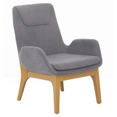 Blue Fabric Upholstery Polyurethane Bergere - pbu7771