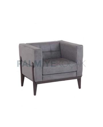 Modern Gray Fabric Polyurethane Bergere