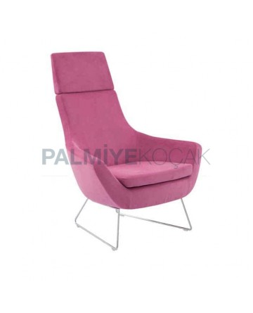 High Backed Polyurethane Bergere with Pink Upholstery