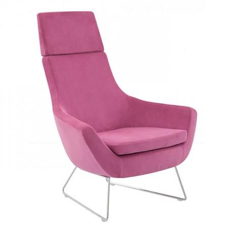 High Backed Polyurethane Bergere with Pink Upholstery - pbu7785