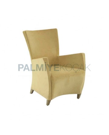 Yellow Fabric Cafe Polyurethane Bergere