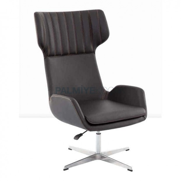Black Leather Lobby Polyurethane Bergere