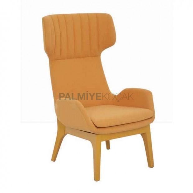 Orange Fabric Polyurethane Bergere