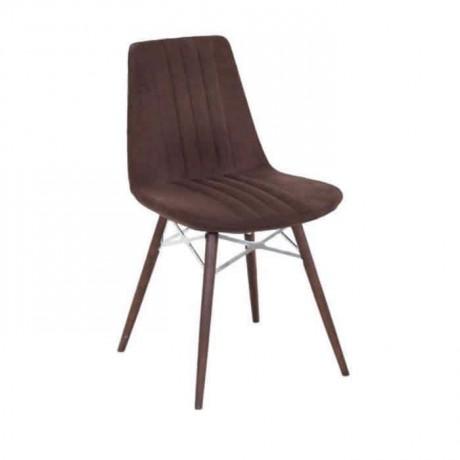 Poliüretan Kahve Kumaşlı Sandalye - psa623