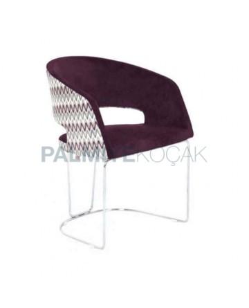 Polyurethane Armchair with Rod Iron Foot