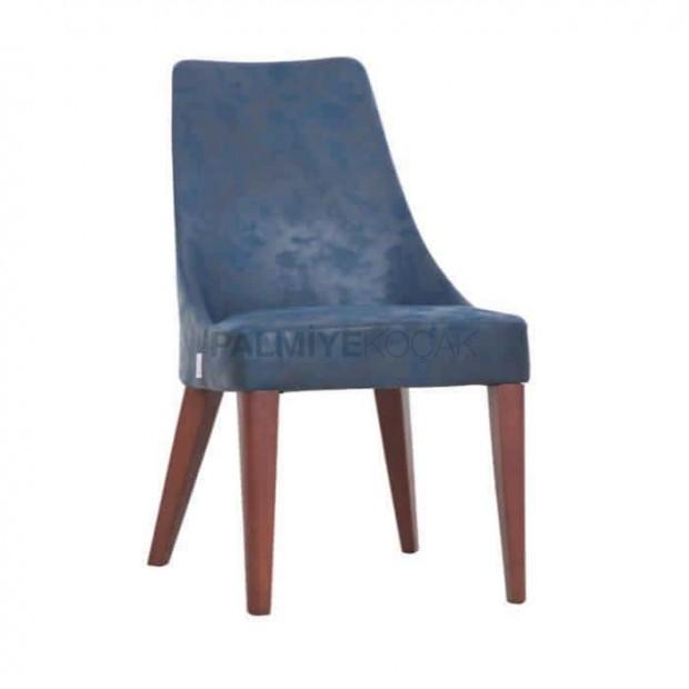 Polyurethane Blue Fabric Cafe Chair