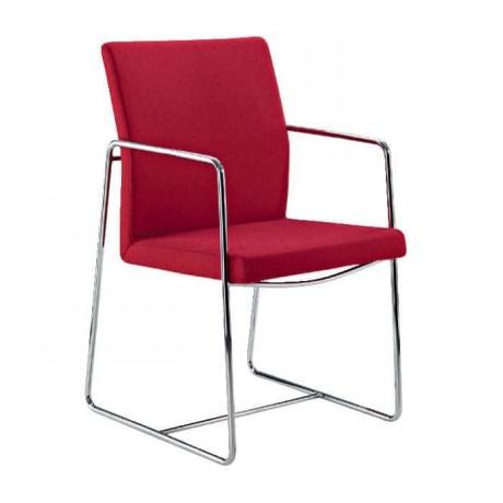 Bordo Metal Ayaklı Metal Kollu Sandalye - psd247