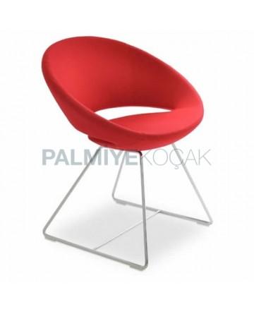 Red Polyurethane Hotel Chair