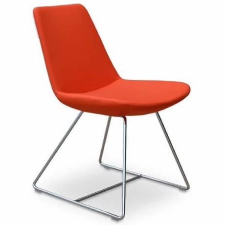 Kırmızı Poliüretan Sandalye - Metal Sandalye