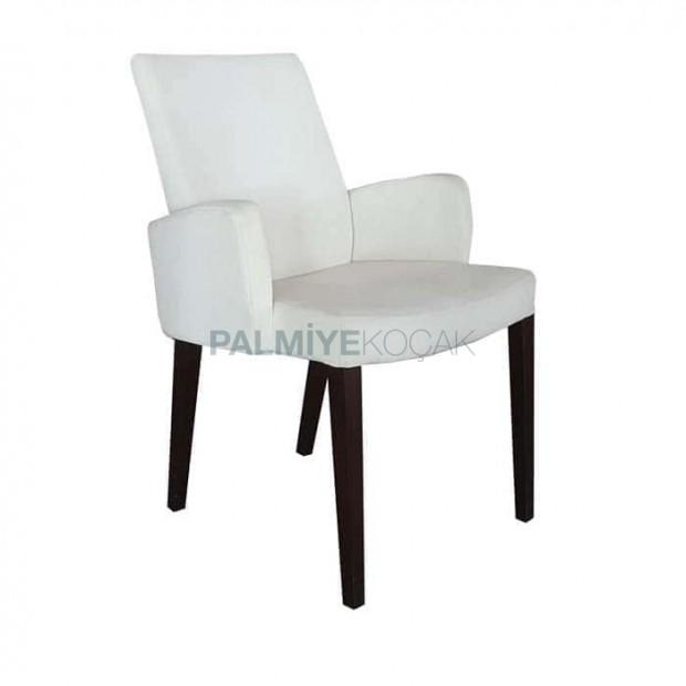 Krem Rengi Poliüretan Kollu Sandalye