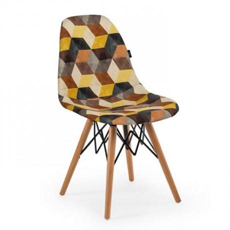 Kumaş Döşemeli Kayın Retro Ayaklı Sandalye 1. Sınıf - Hastane Sandalyeleri