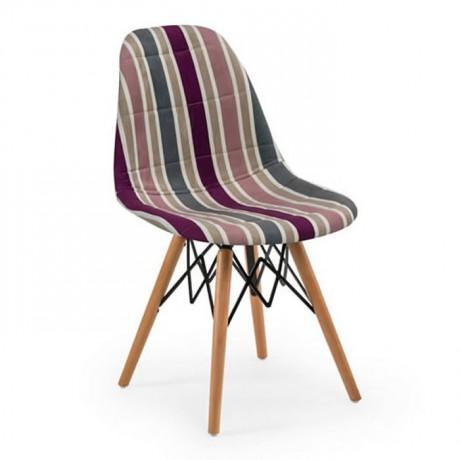 Kumaş Döşemeli Kayın Retro Ayaklı Sandalye Fiyatı - psa699d