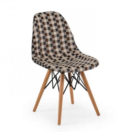 Kumaş Döşemeli Kayın Retro Ayaklı Sandalye İç Mekan - Hastane Sandalyeleri