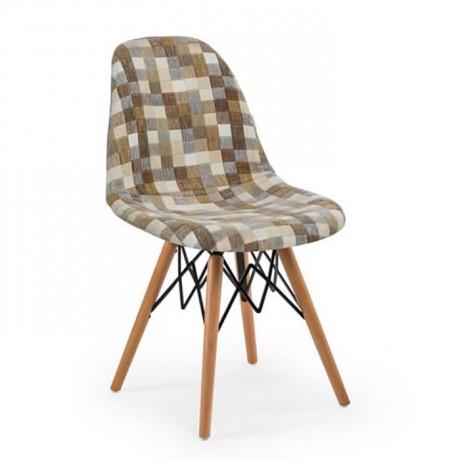 Kumaş Döşemeli Kayın Retro Ayaklı Sandalye İmalatı - psa699i