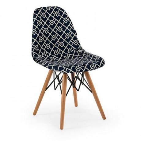 Kumaş Döşemeli Kayın Retro Ayaklı Sandalye Mobilyası - psa699b