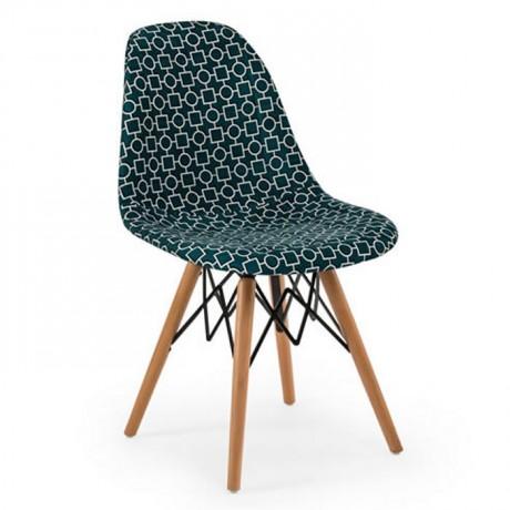 Kumaş Döşemeli Kayın Retro Ayaklı Sandalye Modeli - Hastane Sandalyeleri