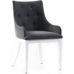 Black Modern Arms Polyurethane White Wooden Leg Chair