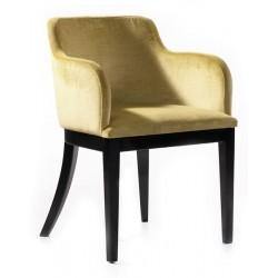 Black Wooden Legs Modern Polyurethane Chair Sturdy