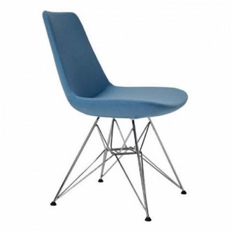 Turkuaz Modern Sandalye Metal Örümce Ayaklı