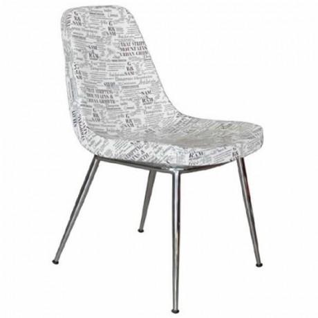 Yazılı Kumaş Döşemeli Poliüretan Modern Sandalye