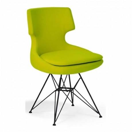 Yeşil Poliüretan Sandalye - Metal Sandalye