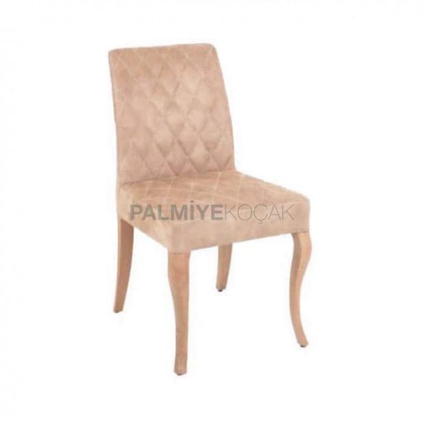 Poliüretan Süngerli Bej Sandalye