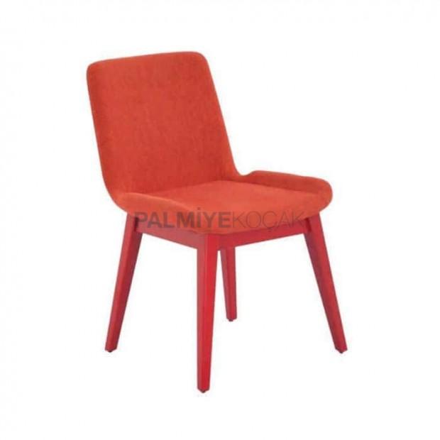 Polyurethane Orange Fabric Chair