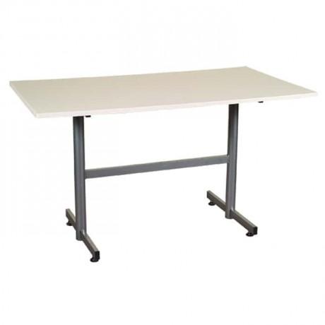 Dikdörtgen Masa Beyaz Ayaklı - pol771a