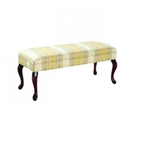 Desenli Kumaşlı Uzun puf Bench - puf1005