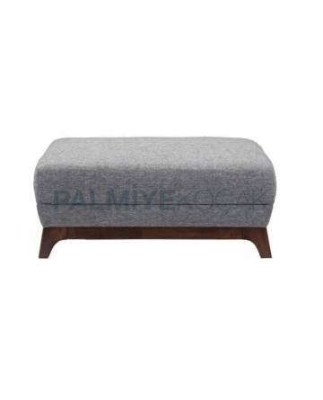 Gray Fabric Upholstered Rectangle Ottoman