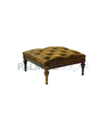 Quilted Square Ottoman