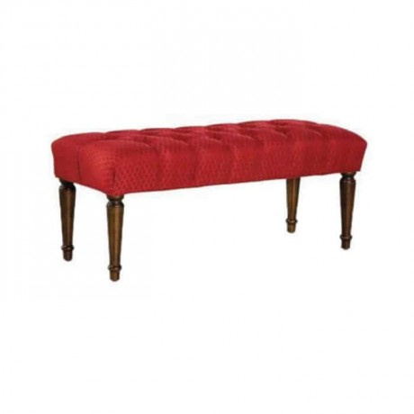 Long Ottoman with Quiltedal Lathed Leg - puf1000