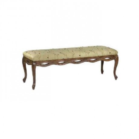 Klasik Ahşaplı Puf Bench - puf1006