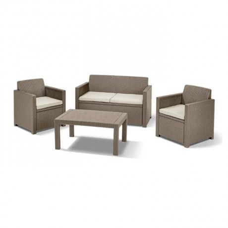 Beige Rattan Injection Armchair - rtp351