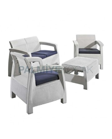 White Rattan Injection Hotel Seat
