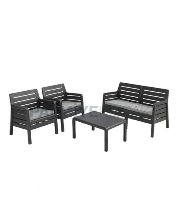 Plastic Rattan Injection Cafe Armchair