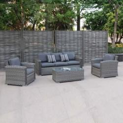 Garden Rattan Knitting Seating Group