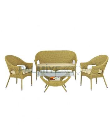 Wicker Knitted Double Hotel Garden Armchair